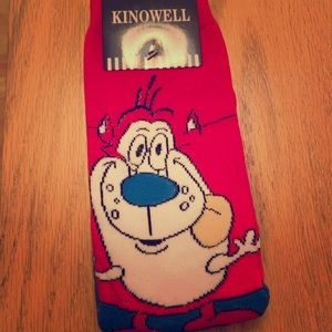 """Stimpy"" Ren and stimpy socks"